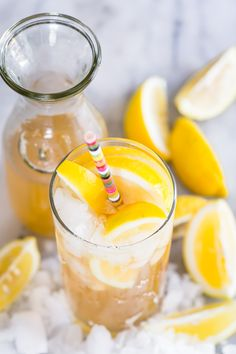 Arnold Palmer Sangria - A really refreshing iced tea and lemonade drink with white wine, made just like the famous Arnold Palmer drink.
