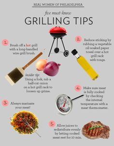 To keep things rolling for month, here are the six best grilling tips for summer Summer Grilling Recipes, Grilling Tips, Bbq Tips, Barbacoa, Cooking Tips, Cooking Recipes, Meat Recipes, Grill Time, Grilled Meat