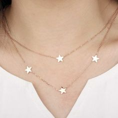 Reach For The Stars Dainty Necklace Trendy Fashion Jewelry, Fashion Necklace, Dainty Necklace, Arrow Necklace, Reaching For The Stars, Stainless Steel Necklace, Star Pendant, Rose Gold Color, Rose Gold Plates