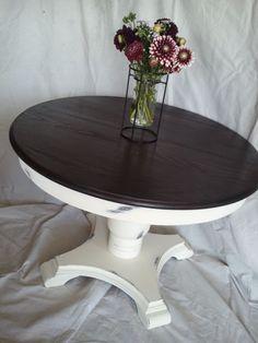 Round Farmhouse Table Ideas Robertson Kitchen Pinterest - Whitewashed pedestal dining table