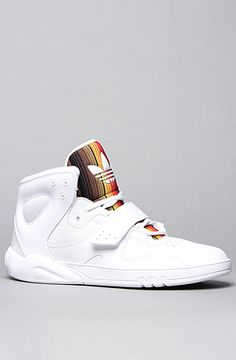 The Roundhouse Mid Sneaker in White & Cardinal by adidas  www.karmaloop.com use rep code: olive for 20%