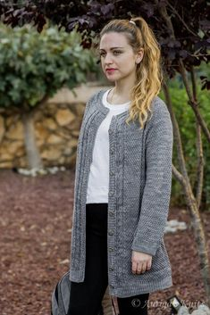 Diy Crafts - Morning Breeze Knitting pattern by Victoria Groger Christmas Knitting Patterns, Sweater Knitting Patterns, Arm Knitting, Cardigan Pattern, Knit Cardigan, Universal Yarn, Yarn Brands, Crochet Basics, Cardigans For Women