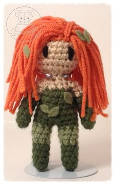 Poison Ivy Crochet Art, Learn To Crochet, Crochet Dolls, Crochet Patterns, Knitted Animals, Stuffed Toys Patterns, Yarn Crafts, Crochet Projects, Needlework