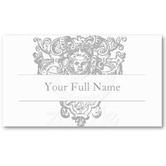 Face Doorknocker Monogram Business Cards