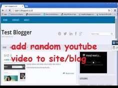 add random youtube video to site or blog