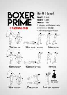 52 Ideas For Fitness Training Program 30 Day Boxing Training Workout, Home Boxing Workout, Boxer Training, Kickboxing Workout, Best Ab Workout, Workout Days, Fitness Hacks, Fitness Workouts, 30 Day Fitness