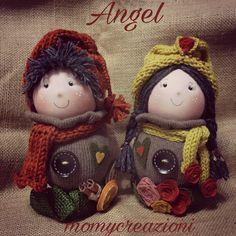 bamboline angelo decorazione 26cm