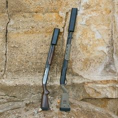 Remington 870 Magpul Tactical/Remington 870 both with SilencerCo Salvo12 suppressors