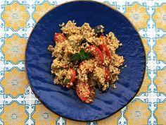 Quinoa con Melanzane e Pomodori datterino al Forno