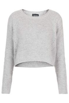 Knitted Rib Curve Hem Crop Jumper - New In This Week  - New In
