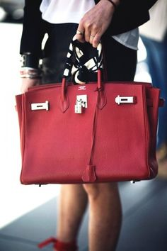 Wowza! Dream-bag alert. Jessica Hon rocks this red-hot Hermés.     Photographed by Jasmine Gregory