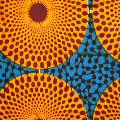 Wax Print #176 | African Wax Print Fabric  Very vibrant pattern that can be used for a web page background!