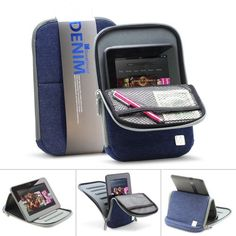 "GreatShield DENIM Series Protective Sleeve Case with Built-In Stand for ALL 7-8"" Tablets - Amazon Kindle Fire HD 7"", Barnes & Noble Nook HD 7"", Apple iPad mini 7.9"", Google Nexus 7, Samsung Galaxy Tab 2 / Tab 3 7.0, Blackberry Playbook 4G LTE (Blue) GreatShield http://www.amazon.ca/dp/B00B92D1Q8/ref=cm_sw_r_pi_dp_l46Fub0TYS1N5"