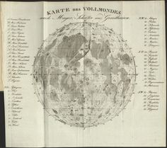 German Moon Map drawn in 1829.