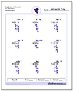 Long Division Worksheet Easy without Remainders Three Digit Quotient! Long Division Worksheet Easy without Remainders Three Digit Quotient Division With Remainders Worksheet, Multiplication And Division Worksheets, Division Activities, Math Activities, Free Printable Math Worksheets, Kids Math Worksheets, Number Worksheets, Alphabet Worksheets, Math Resources