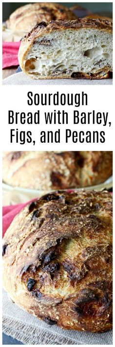 Sourdough Barley Bread with Figs and Pecans  | #Bread #HealthyEating Sherman Financial Group
