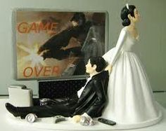 Game over cake topper