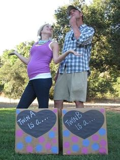Our gender reveal for twins