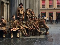 National Theatre head Rufus Norris and artist Jeremy Deller were behind a Somme commemoration project featuring men dressed as World War One soldiers. World War One, Second World, First World, Ww1 Battles, Ghost Soldiers, Glasgow City Centre, Battle Of The Somme, National Theatre, Alexander The Great