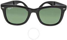 a236573127 Ray-Ban Folding Wayfare Black Plastic 50mm Men's Sunglasses