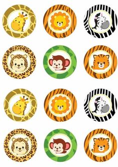 Jungle Cupcakes, Animal Cupcakes, Themed Cupcakes, Tag Safari, Safari Theme, Superman Cake Topper, Safari Party Decorations, Zoo Cake, Safari Cakes