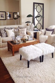 Elegant Photo of Apartment Living Room Decor Ideas . Apartment Living Room Decor Ideas 9 Elegant Apartment Living Room Home Decor Ideas To Copy Easily Beige Living Rooms, Small Living Rooms, My Living Room, Home And Living, Living Room Designs, Living Spaces, Cozy Living, Living Room Decor College, Modern Living