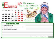 Calendario mes de enero 2016