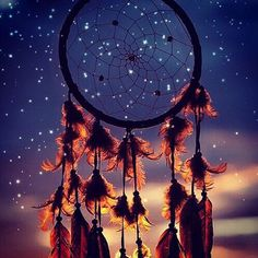 Dreamcatcher in the night sky