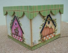 Vero Pintura Decorativa sobre Madera y Porcelana: Caja Country Diseño Americano con Bordes Ondulados