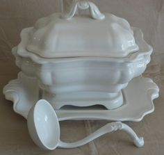 Vintage Ironstone Soup Tureen and Accessories by GrandpaJoesAttic