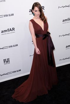 The stunning Emilia Clarke wearing a gorgeous Zac Posen gown