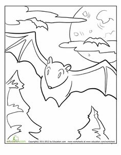 cool bat pictures to print Special Picture Colouring Pages