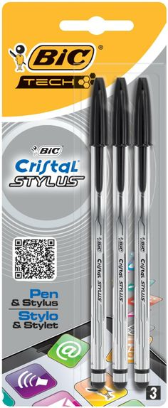 BIC Cristal STYLUS, 0.4 mm, mit Touchpen-Funktion