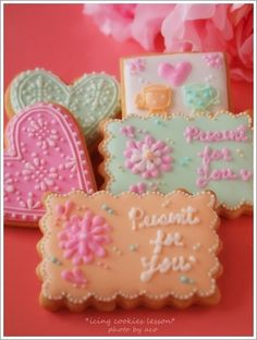 Valentines  バレンタインアイシングクッキー ワンデイレッスンのお知らせ : flala cafe