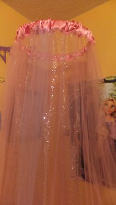 Tulle Bed Canopy by qtowndivas on Etsy, $65.00