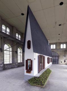 """Narrow House"" by Austrian artist Erwin Wurm"