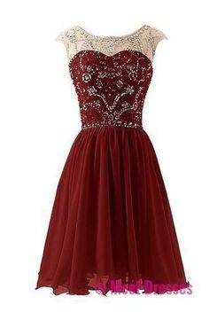 Charming Prom Dress,Chiffon Prom Dress,Beading Prom Dress,Short Prom Dresses PD20182308