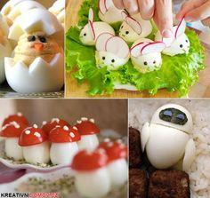 Vtipné pokrmy z vajíčka