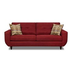 Contemporary Simmons Red Sofa