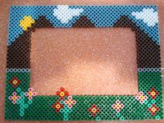 Photo frame hama perler beads (10X15) by Andres Moreno Rodriguez