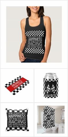 Trendy auto racing black and white checkered flags designs. Available on a wide variety of matching home decor accents and fun accessories. For the stylish F1 race car sport lover, Nascar, Indy 500, Le Mans or Formula 1 Grand Prix racing fan. Cute, classy and fashionable items for those who love decorating the boys or childrens bedroom, man cave, RV or camper, or their car with items related to their favorite sport.
