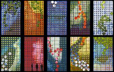 coloured glass - Brian Clarke, architectural stained glass
