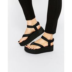 7bdf4e1878c Teva Black Flatform Universal Sandals ( 73) ❤ liked on Polyvore featuring  shoes