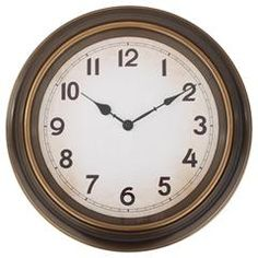 PLASTIC WALL CLOCK IN BRASS COLOR 40X4,5Χ40