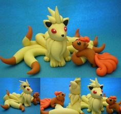 Ninetales and Vulpix by Foureyedalien.deviantart.com