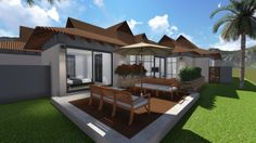 Earp Construction develops and sells properties in George on the Garden Route in South Africa. There are a range of design styles and sizes to suit your budget. Design Your Dream House, Plan Design, Open Plan, Property For Sale, South Africa, Bali, Construction, Outdoor Decor, Fashion Design