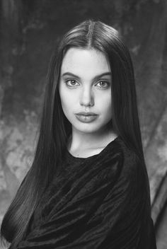 Angelina Jolie's yearbook picture. This was her in high school.