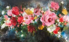 Available for sale: She Was Chaos, a stunning oil on canvas floral painting by Heidi Shedlock, size 150 x 90 cm. Planting Flowers, Oil On Canvas, Lily, Floral Paintings, Water, Artwork, Artist, Plants, Floral Design