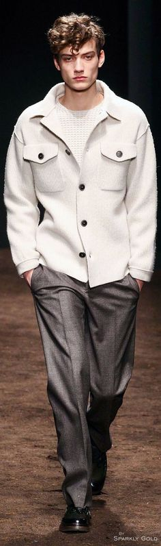 Salvatore Ferragamo Fall 2015 | Men's Fashion | Menswear | Smart Casual | Moda Masculina | Shop at designerclothingfans.com