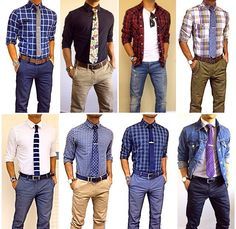 Tie in style Casual Wear, Casual Outfits, Men Casual, Look Fashion, Fashion Outfits, Mens Fashion, Style Masculin, Business Outfit, Business Casual